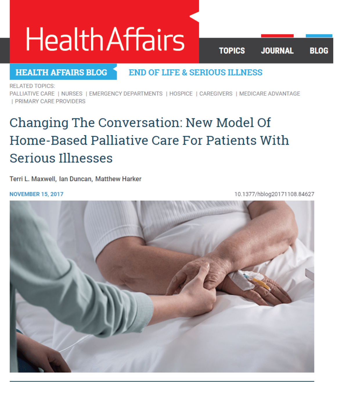 New Model Of Home-Based Palliative Care For Patients With Serious Illnesses